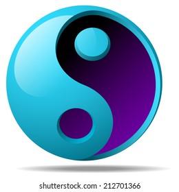 Ying yang sign illustration raster version