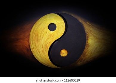 ying-yang martial arts symbol background or texture