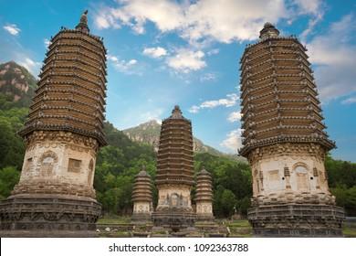 Yinshan Talin, Silver Mountain Pagodas in Beijing, China