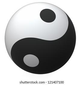 Yin-Yang ball, balance symbol