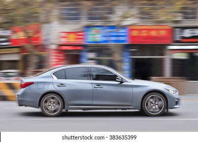 YIWU-CHINA-JAN. 20, 2016. Infiniti G37 IPL. For the first time, Infiniti sold over 215,520 vehicles annually, a 16% increase over 2014. December 2015 was also Infiniti's most successful month ever.