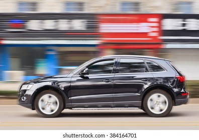 YIWU-CHINA-JANUARY 20, 2016. Audi Q5 SUV. China alone forms almost one-third of Audi's sales volume, and the German car-maker holds the dominant position in the country's premium vehicle market.