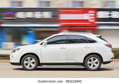 YIWU-CHINA-JANUARY. 20, 2016. Lexus RX270 SUV. On the contrary of BMW, Mercedes-Benz and Audi, Lexus producing cars still in Japan. They will favor made-in-Japan vehicles as a guarantee of quality.