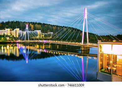 Yliston bridge in Jyvaskyla, Finland