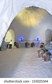 YLLASJARVI,  FINLAND - MARCH 6: Lainio snow village on March 6, 2006 in Yllasjarvi, Finland.  The Igloo village is open every year from December/January until the end of April.
