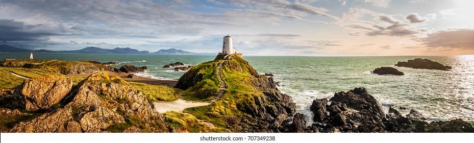 Ynys Llanddwyn lighthouse Anglesey wales