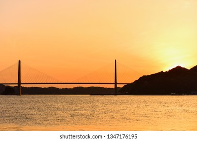 Yobuko Bridge During Sunset in Saga Prefecture