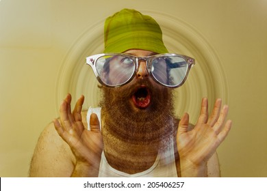 A yodeling bearded silly man