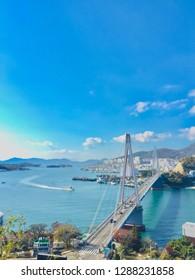 Yoe su bridge in Yoe su, Korea