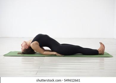 yoga asana Matyasana - fish pose.