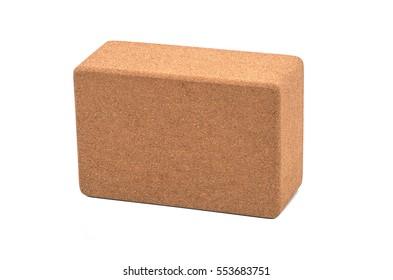Yoga Cork Blocks Eco Friendly Isolated on White Background