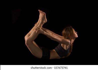 yoga female doing yoga exercise