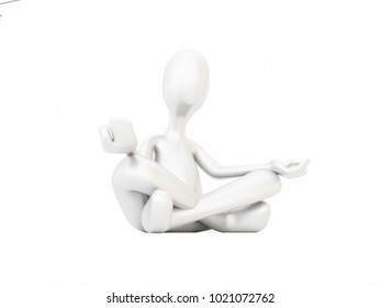 Yoga figure 3D Illustration