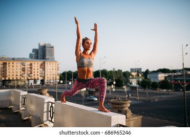 Yoga fitnes training, woman meditating
