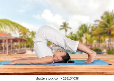 Yoga, Flexibility, Women.