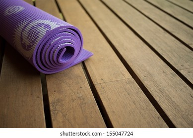 Yoga Mat with copy space