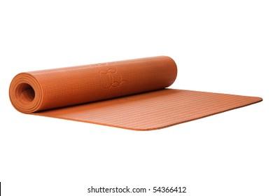 yoga mat cutout on white