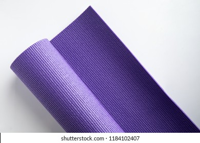 yoga mat mattress violet purple healthy exercise lifestyle  easy diet lose weight