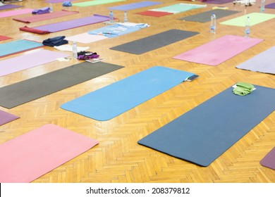 yoga mats in studio
