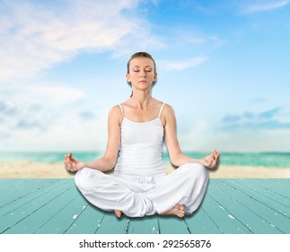 Yoga, Meditating, Women.