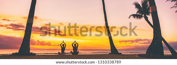Yoga Meditation Retreat Landscape Panoramic Banner Stock Photo Edit Now 1310338789