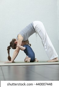 yoga  mother with baby