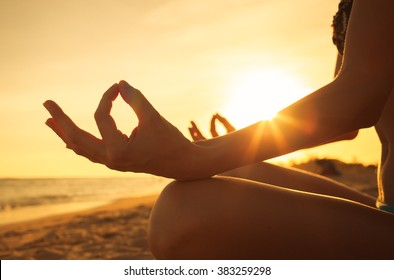 Yoga on the beach.