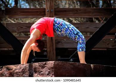 Yoga on a Bridge