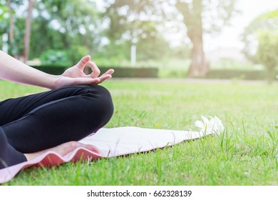 Yoga in the outdoors.
