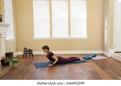 Yoga pose Bhujangasana elbows bent
