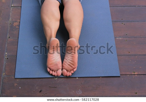 Yoga relaxing in holiday