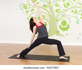 yoga student practicing different poses