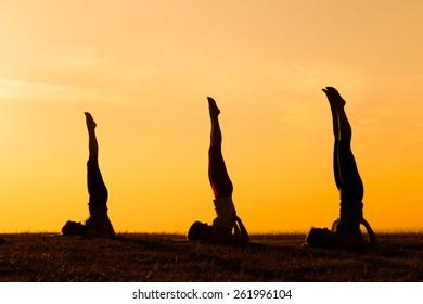shoulderstand sport images stock photos  vectors