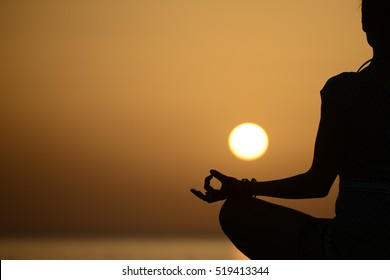 Yoga, yoga teacher, yoga at sunset
