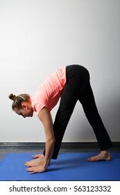 yoga woman at home