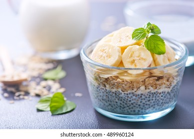 yogurt with chia seeds and banana