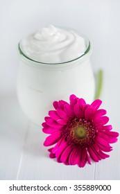 Yogurt in a glass