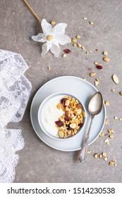 yogurt and granola for a healthy breakfast
