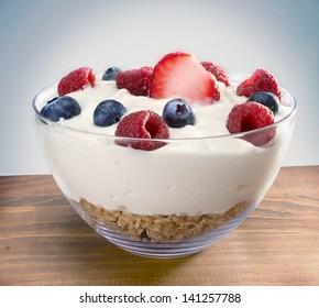 yogurt on wood