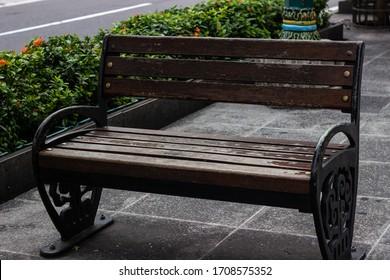 YOGYAKARTA, 19 APRIL 2020 : bench in the street