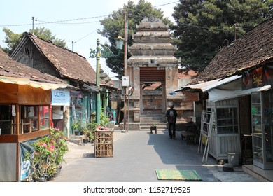 YOGYAKARTA AUGUST 9, 2018 - Traditional kampong in Kotagede Yogyakarta where people live in a heritage cultural area near the famous great mosque that built in 1589