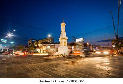 Yogyakarta, Indonesia (09/2015) : Tugu Jogja, or Known as Tugu Pal is the Iconic Landmark of Yogyakarta.