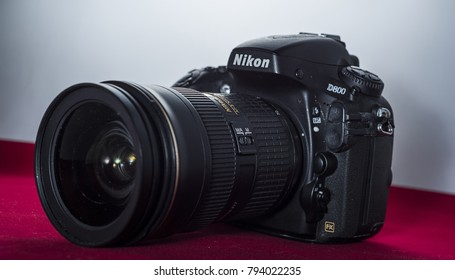 Yogyakarta, Indonesia - 14 January 2018: Nikon D800 camera is made in japan with high resolution and sharpness reserved for landscape photographer