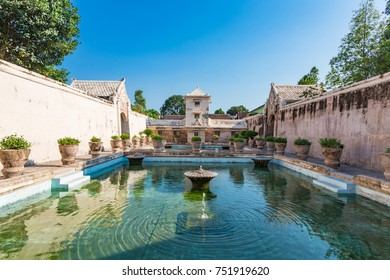 YOGYAKARTA, INDONESIA - 14 September, 2017: Taman Sari Water Castle is a site of a former royal garden of the Sultanate of Yogyakarta