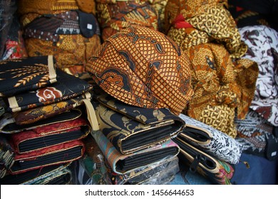 Yogyakarta, Indonesia - ca 2019: Blangkon hats are unique hats typical of Javanese society, beautiful as cultural custom event supplies