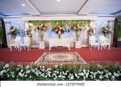 Yogyakarta, Indonesia - December 29, 2018: Wedding Party with Flower Decoration | Wedding Decoration