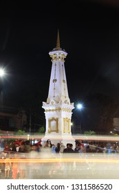 Yogyakarta, Indonesia: December 30,2017. Many people gather in Jogja monument to welcome the new year.