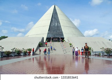 Yogyakarta, Indonesia - December 29, 2018 tourist visit monument jogja kembali, museum history of the struggle for independence of the Republic of Indonesia in the city of Yogyakarta