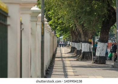 Yogyakarta, Indonesia - July 23 , 2019 : Selasa Wage or Tuesday Wage was chosen by traders to take a break from their activities in accordance with the Yogyakarta City Government program.