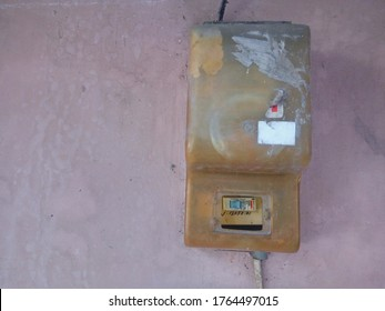 Yogyakarta, Indonesia, June 5, 2020 ; A smart electric power meter measuring power usage, Kilowatt hour electric meters, power supply meters.